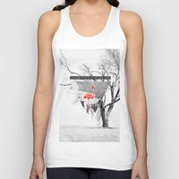 flamingo Tank Tops featuring Flamingo by Mehdi Elkorchi
