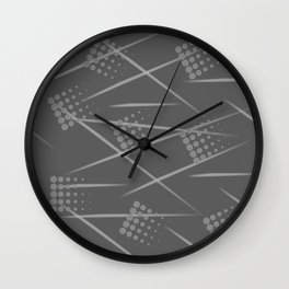 Gray abstract background. Grey Sport style Wall Clock