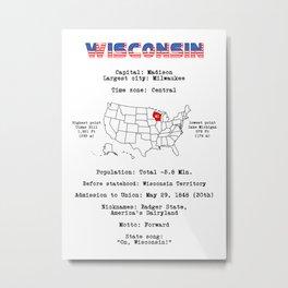 Wisconsin Metal Print
