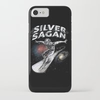 carl sagan iPhone & iPod Cases featuring Silver Sagan by The Cracked Dispensary