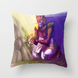 Dinobot and the Flower Throw Pillow