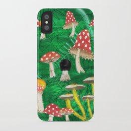 Mushroom Party iPhone Case