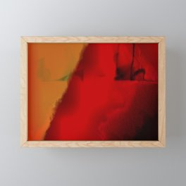 Emerging through Red Framed Mini Art Print