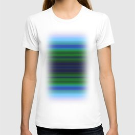 Bright Lined Light Blue Green Colors T-shirt