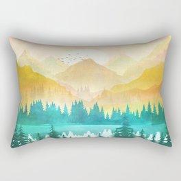 Summer Mountain Sunrise Rectangular Pillow