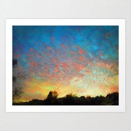 Portland Pink Sky Art Print