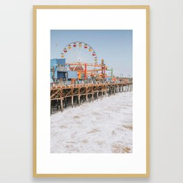 santa monica iii Framed Art Print