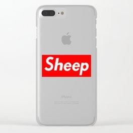Sheep (Supreme) Box Logo Clear iPhone Case