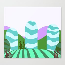 Stripes landscape  Canvas Print
