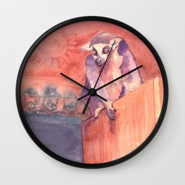 Madagascar's lemur catta Wall Clock
