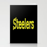 steelers Stationery Cards featuring Steelers - #1 by Judy Palkimas