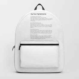 The Four Agreements #blackwhite #minimalism Backpack