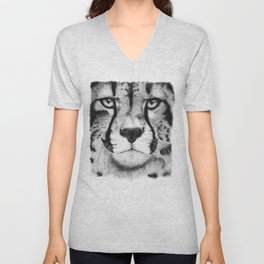 Cheetah face Unisex V-Neck
