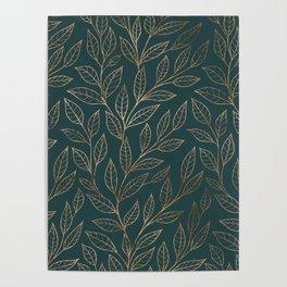 Botanical Pattern - Bronze N7 Poster