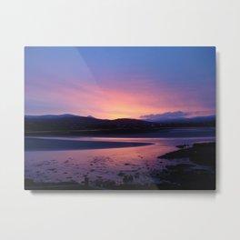 Errigal Sunset Metal Print