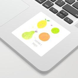 Friendly Fruit Sticker