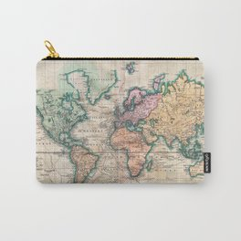 Vintage World Map 1801 Carry-All Pouch