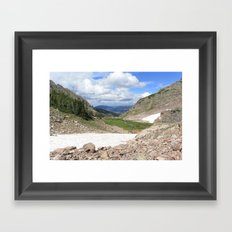 August Snow Framed Art Print