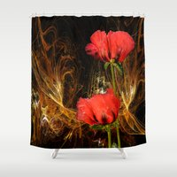 passion Shower Curtains featuring Passion by LudaNayvelt