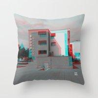 bauhaus Throw Pillows featuring Bauhaus · Das Bauhaus 2 by Marko Köppe