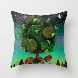 Night of the Puriri Throw Pillow
