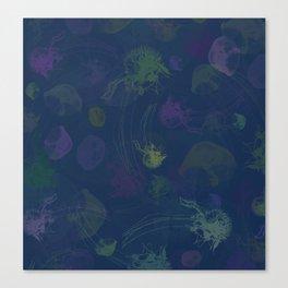 Jellyfish Photo Pop Art Print - Blue, Green and Purple Canvas Print