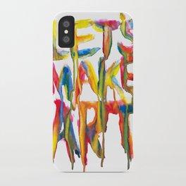 LET'S MAKE ART iPhone Case