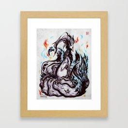 Grudge Fox Framed Art Print