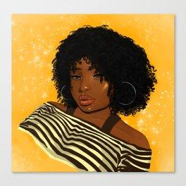 Woman of colour Canvas Print