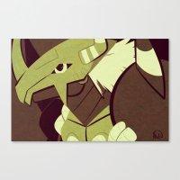 digimon Canvas Prints featuring BWGreymon - Digimon by frolis