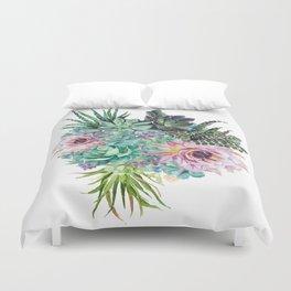 Succulent Bouquet Duvet Cover