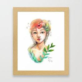 Goddess of  Spring Framed Art Print