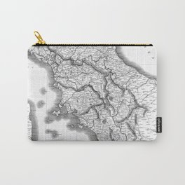 Vintage Map of Tuscany Italy (1814) BW Carry-All Pouch