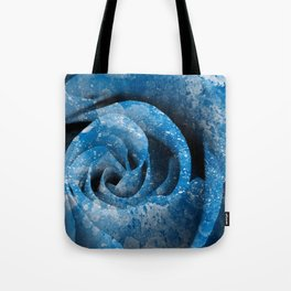 Blue Acrylic Rose Tote Bag