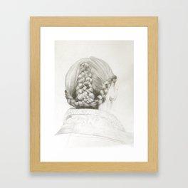Women's hair study #1 (Taralis Automne-Hiver 2011) Framed Art Print