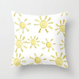 happy sunshine Throw Pillow
