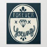 forever young Canvas Prints featuring Forever Young by Landon Sheely