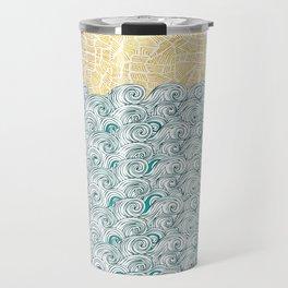 Sunny Tribal Seas Travel Mug