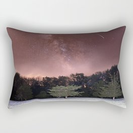 Milky Way Meteor Field Rectangular Pillow