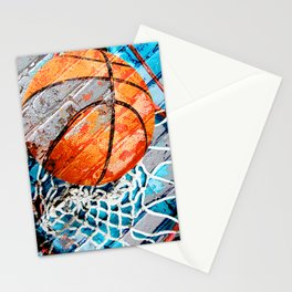 Modern basketball art 3 Stationery Cards