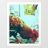 cock Art Prints featuring cock by habish