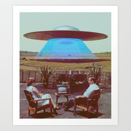 Alien Ship Art Print