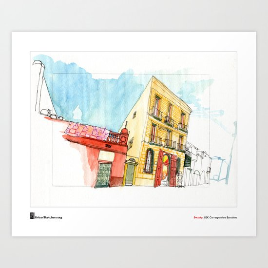 "Swasky, ""Sant Boi"" Art Print"