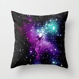 Eagle Nebula purple blue teal Throw Pillow