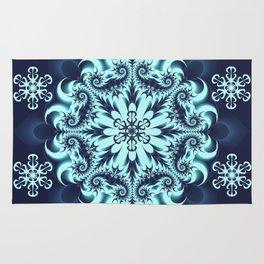 The Blue Snowflake I Rug