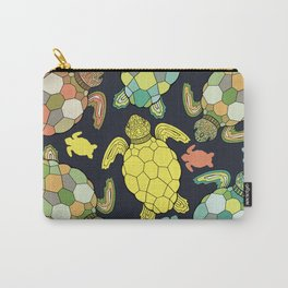 Colorful happy turtles. Carry-All Pouch