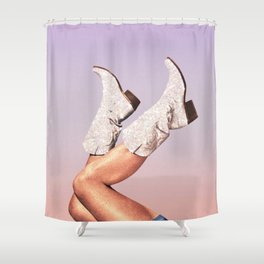 These Boots - Glitter Miami Vibes Shower Curtain