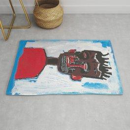Red Boy after Basquiat Rug