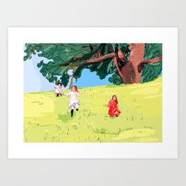 The little house on the prairie with Ingalls sisters Art Print