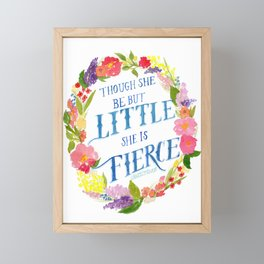 She is Little and Fierce  Framed Mini Art Print